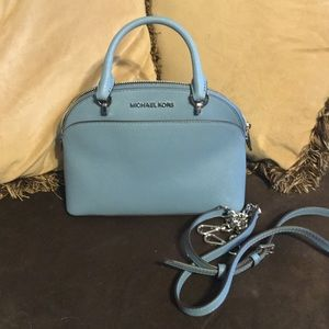 Michael Kors Emmy sky SM Dome Leather Satchel